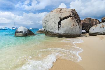 The famous Baths on Virgin Gorda, British Virgin Islands