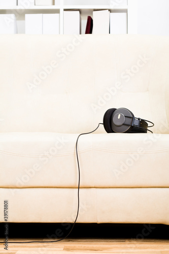 Living room with headphone