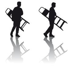 Mann mit Leiter