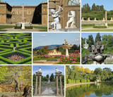 collage with images of florentine monumental Boboli Gardens, Tus poster