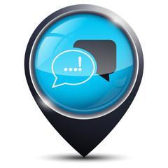 Symbole glossy vectoriel dialogue / réunion