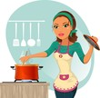 Donna che cucina-Woman cooking