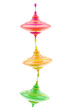 Three kinds of colorful glossy whirligigs