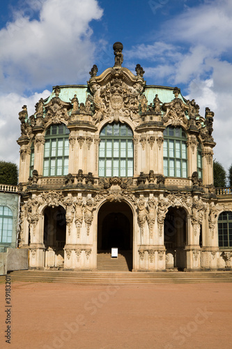 The pavilion at the north wall of the Zwinger, Dresden