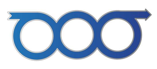 Three Circle Arrow Chain