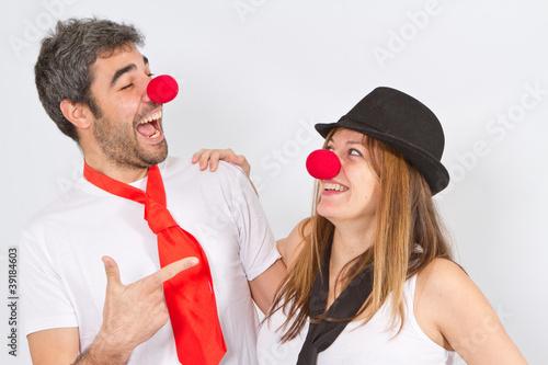 pareja de payasos