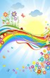 Spring colorful banner