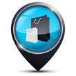 Symbole glossy vectoriel shopping / boutique