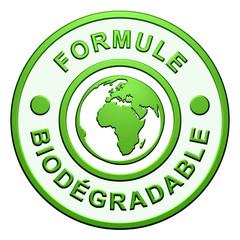 """Cachet """"Formule Biodégradable"""""""