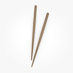 3d render of chopsticks (for food)