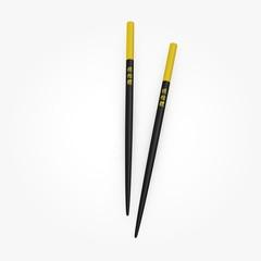 3d render of chopsticks (for food)