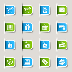 Label - Shopping icons