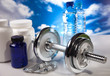 fitness barbell and supplements