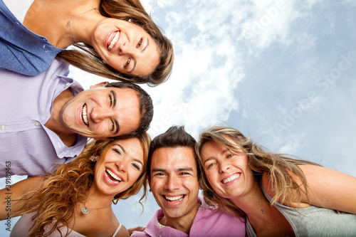 Young people laughing