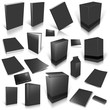 Black 3d blank cover collection