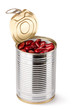 Opened tin with red beans