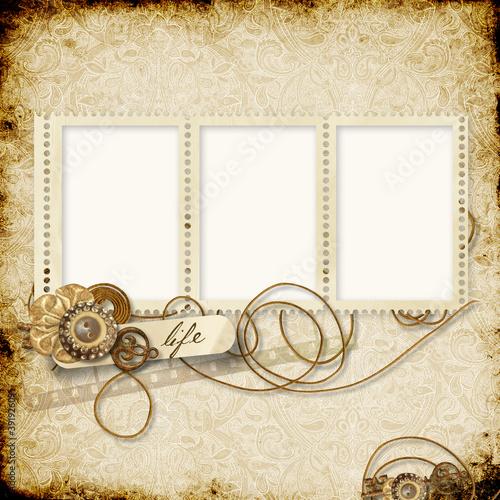 In de dag Retro Stamp-frames on the vintage background
