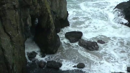 Grotto on the rough Oregon Coast