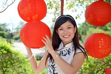 Pretty chinese woman portrait