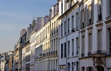 Rue ancienne de Paris, France.