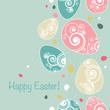 Easter background in retro style
