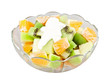 Tropical salad on white background