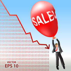 Sales plan disaster over falling down revenue plan