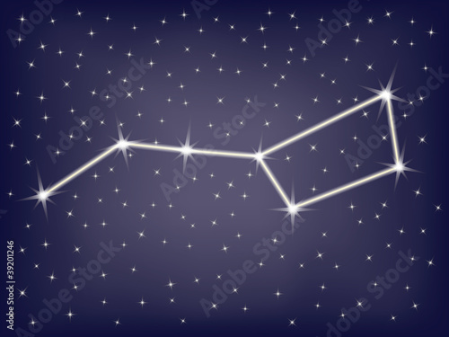 constellation Ursa Major (Big Dipper) illustration