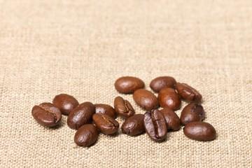 Kaffeebohnen – Makro, quer