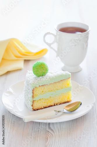 Slice cake
