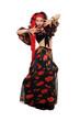 Expressive gypsy woman