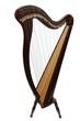 Leinwanddruck Bild - Harfe