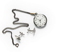 Pocket watch and cufflinks