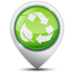 Symbole glossy vectoriel recycler
