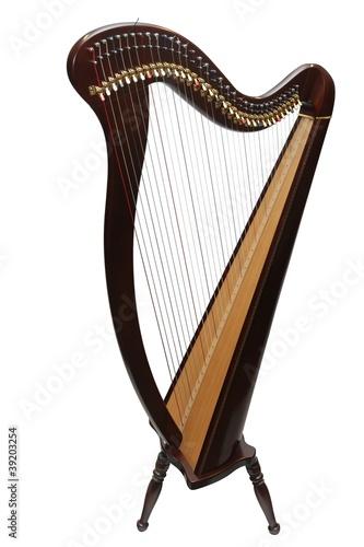 Leinwanddruck Bild Harfe