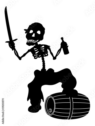 Jolly Roger, black silhouette
