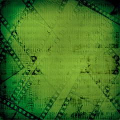 Grunge green background with ancient digital ornament for st Pat