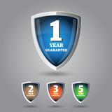 Fototapety Guarantee label shield on grey background