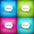Paper speech bubble background set