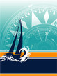 Sailboat vector wallpaper