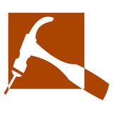 Logo for carpenters and joiners - hammer - Illustration poster