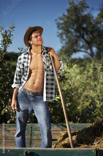 farmer at work