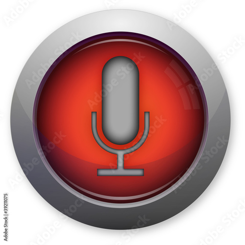 Microphone symbol for pc on reb button