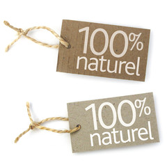 """Etiquettes """"100% naturel"""""""