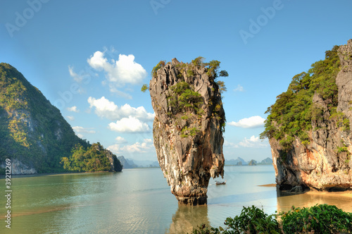 Ko Tapu island in Thailand and surrounding hills