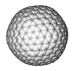 Nanocluster fullerene C540 molecular model