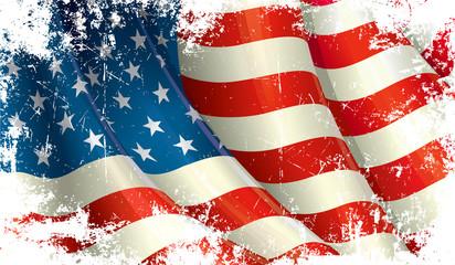 American Flag Grunge