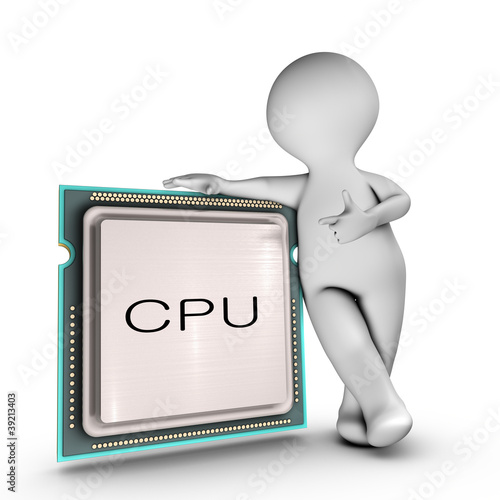 A character relies on a powerful CPU (Central processing unit)