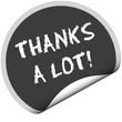 TF-Sticker rund curl unten THANKS A LOT!