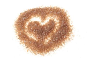Brown sugar heart